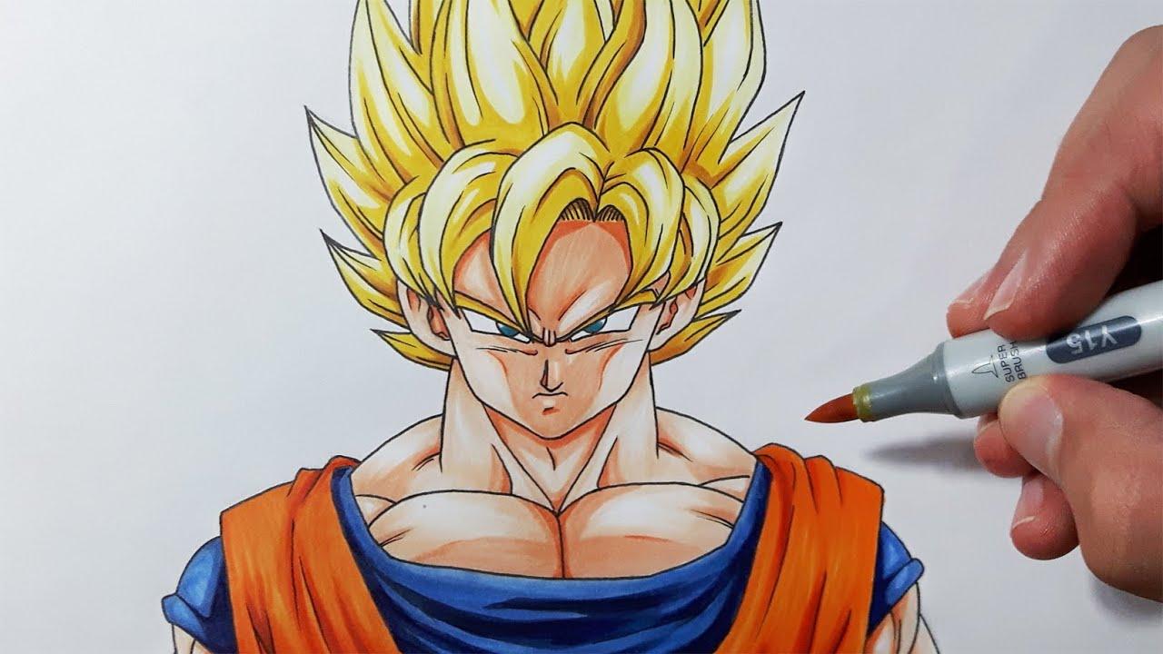 Como Desenhar O Goku Super Sayajin Ssj Passo A Passo Super